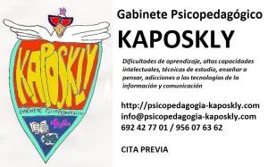 Contacto con Gabinete Psicopedagógico Kaposkly